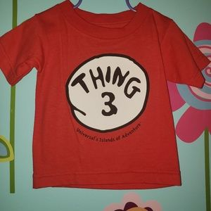 Red Dr. Seuss Thing Three Shirt